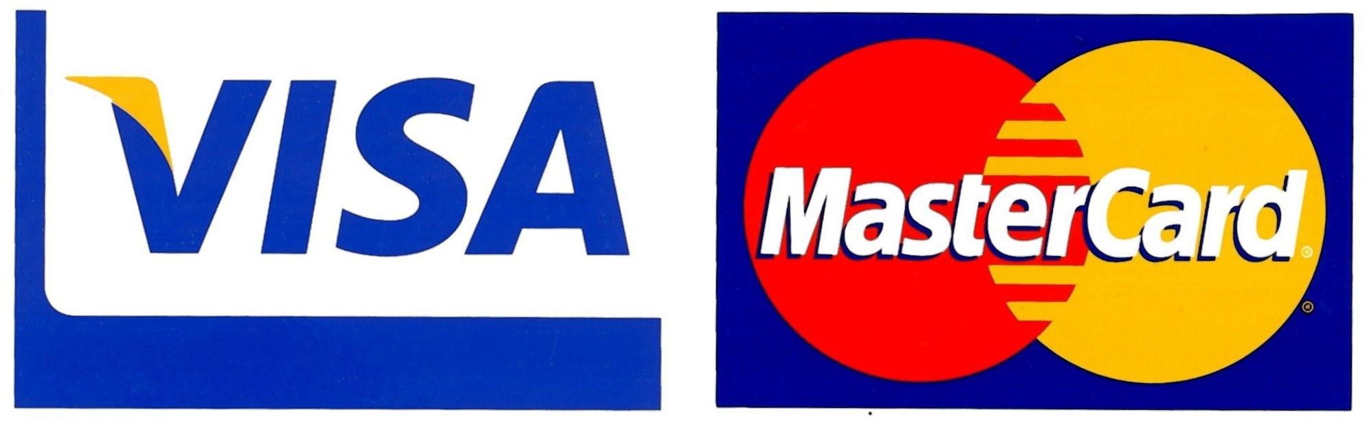 Mastercard Visa BTC